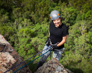 Abseiling, Glasshouse Mountains - Sunshine Coast