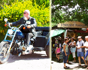 Harley Davidson, 1hr Eumundi Market Tour - Sunshine Coast