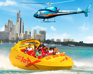 Jet Boat Ride & Helicopter Flight - Central Surfers Paradise, Gold Coast