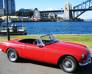 MGB Roadster For A Day, Car Hire Sydney
