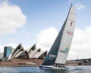 Sailing aboard Americas Cup Yacht - Sydney Harbour