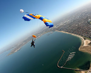 Skydiving Over The Beach St Kilda, Melbourne - WEEKDAY SPECIAL 14,000ft