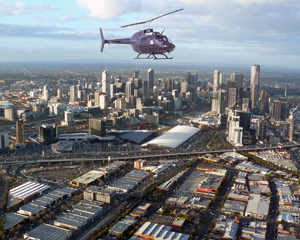 Luxury Jet Ranger Helicopter Flight, 20 Min Melbourne CBD Orbit