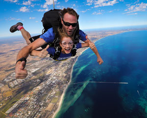 Skydiving Onto The Beach Margaret River Region WA - Tandem Skydive 14,000ft