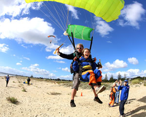 Skydiving Onto The Beach Margaret River Region WA - Tandem Skydive 10,000ft