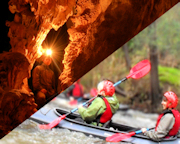 4 Adventure Passport - Melbourne: Abseiling, Rock Climbing, Caving & White Water Kayaking
