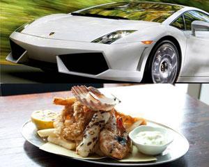 Luxury Lamborghini Drive & Dine for 2 - Sydney