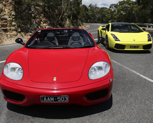 Ferrari & Lamborghini Drive Mornington Peninsula (1 Hour)