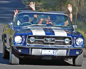 Ride in a Convertible 67 Mustang, Up to 3 People, 1 Hour - Sydney
