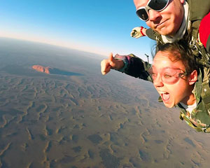 Skydiving Over Ayers Rock Uluru at Sunrise or Sunset