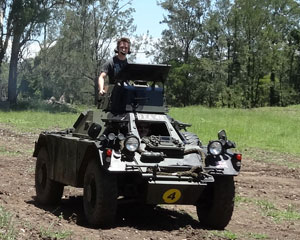 Tank Rides, Ride in the Gun Turret of an Armoured Car - Brisbane