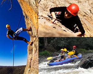 Abseiling, Rock Climbing & White Water Kayaking - Melbourne