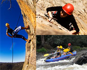 Abseiling, Rock Climbing & White Water Kayaking - Melbourne