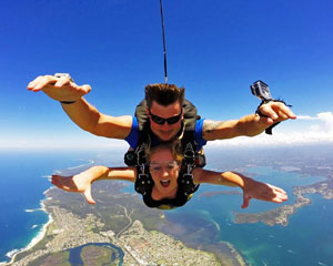 Skydiving Over The Beach Newcastle - Weekend Tandem Skydive Up To 14,000ft