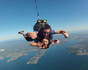 Skydiving Over The Beach Newcastle - Tandem Skydive Up To 14,000ft SPECIAL OFFER