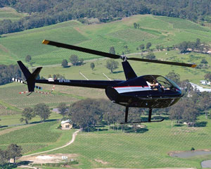 Private Helicopter Flight for 2 - DOORS OFF! Hunter Valley