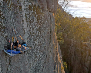 World's Highest Portaledge Cliff Camping - Mount Buffalo VIC