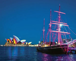 Vivid Sydney Tall Ship Cruise Plus Buffet And Drinks Package - Sydney Harbour