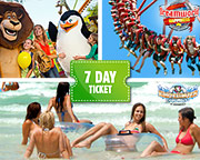 Dreamworld, WhiteWater World And SkyPoint 7 Day Family Ticket (2 Adults 2 Children aged 3-13)