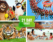 Dreamworld, WhiteWater World And SkyPoint 21 Day Family Ticket (2 Adults 2 Children aged 3-13)