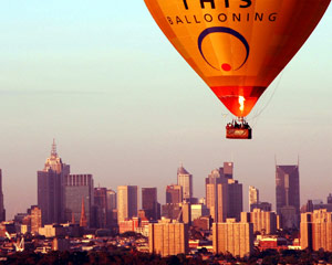 Hot Air Balloon Melbourne CBD, City Flight (Flight Only)