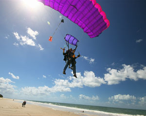 Skydiving Brisbane's Bribie Island - Tandem Beach Jump Up To 14,000ft