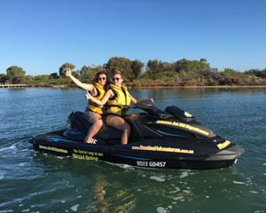 Jet Ski Mandurah, Extreme Ocean Tour 90 Minutes - Perth (RIDER PLUS PASSENGER) No licence required!