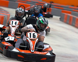 Indoor Go Karting, Ultimate Karting + Simulator Package - Sydney