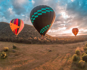 Hot Air Ballooning over the Hunter Valley with Breakfast & Photos