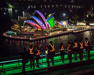 BridgeClimb Sydney - Special Event Weekday VIVID Festival - INCLUDES FREE FRAMED PHOTO