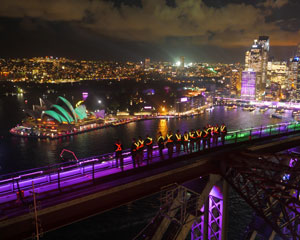 BridgeClimb Sydney - Special Event Weekend VIVID Festival - INCLUDES FREE FRAMED PHOTO