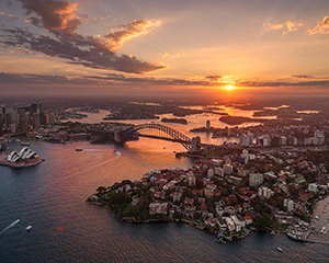 Helicopter Tour Sydney - 30 Minute Private Sunset Flight For Up To 3 People