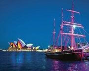 Vivid Mon-Thursday Sydney Tall Ship Cruise Plus Buffet And Drinks Package - INCLUDES MAST CLIMB!