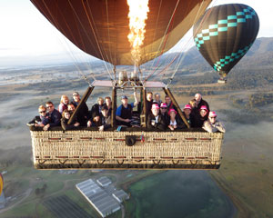 Hot Air Ballooning over the Hunter Valley with Breakfast & Photos SPECIAL OFFER MIDWEEK WINTER WARMER!