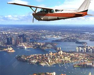 Scenic Airplane Flight Over Sydney Harbour