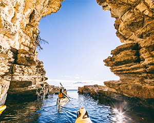 Full Day Beaches, Cliffs and Caves Guided Kayak Tour - Hobart
