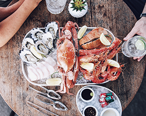Deluxe Seafood Platter and Champagne for Two at Empire Lounge - Sydney