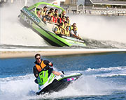 Jet Boat ride & Jet Ski Hire for 2, Action Packed 2  Hour Adventure - Gold Coast