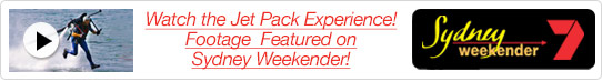 Jet Pack Experience Footage Featured on Sydney Weekender!