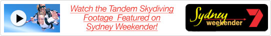 Skydiving Featured on Sydney Weekender!