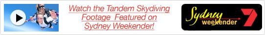 Skydiving Footage Featured on Sydney Weekender!