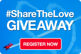 Share the Love - win a free experience!