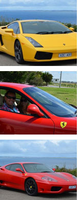 Ferrari and Lamborghini Drive