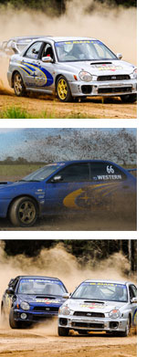 Subaru WRX Rally Driving