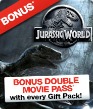 Jurassic World - Bonus Double Movie Pass!