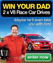 Win your Dad 2 x V8 Race Car Drives