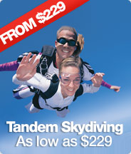 Tandem Skydiving as low as $229!