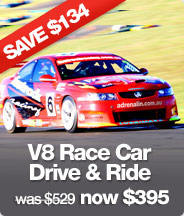 V8 Race Car Drive AND Ride