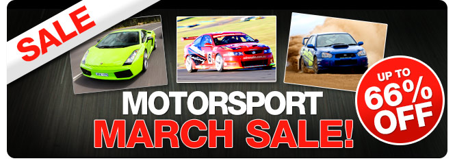 Save up to 66% off motorsport March sale at Adrenalin.com.au