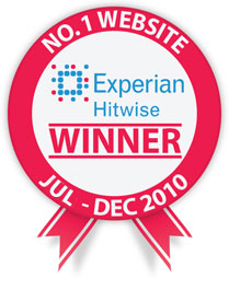 Experian Hitwise No.1 Website Winner